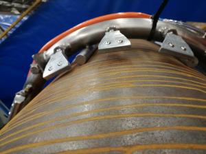 使用EXAIR超级空气喷嘴冷却的海上管道焊接